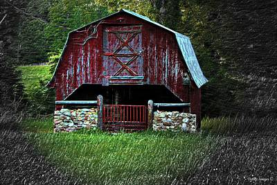 Photograph - Homestead Barn by Wesley Nesbitt
