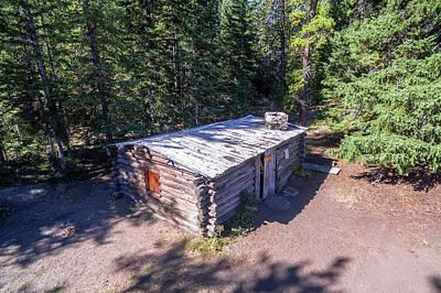 Homestead Cabin Aerial Art Print by Jess Kraft
