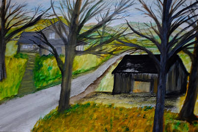 Painting - Homestead by Dick Bourgault