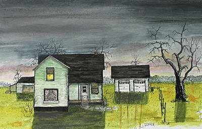 Painting - Homestead Evening by Jack G Brauer