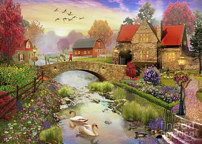 Barn Digital Art - Homestead by MGL Meiklejohn Graphics Licensing