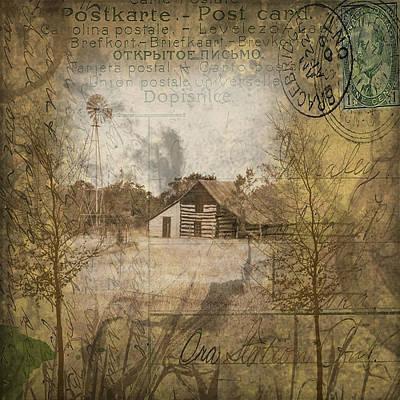 Digital Art - Homestead Of Old by Nadine Berg