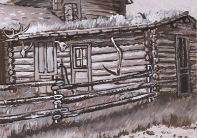 Painting - Homestead On Cedar Creek Historical Vignette by Dawn Senior-Trask