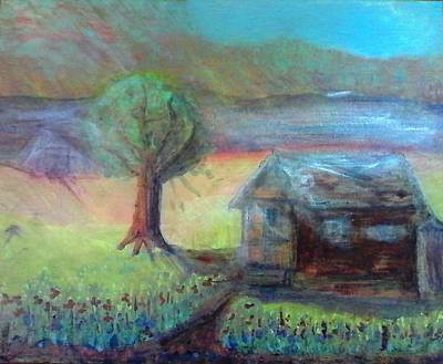 Old Cabins Mixed Media - Homestead by Sue Williams