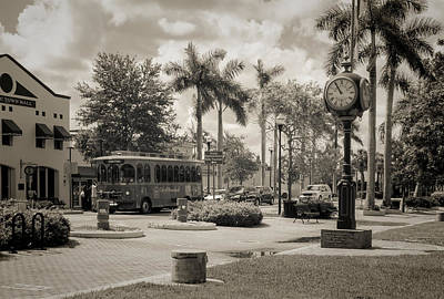 Homestead Town Square Art Print by Rudy Umans
