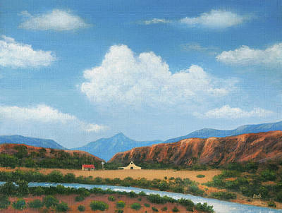 Beautiful Creek Painting - Homesteader by Gordon Beck