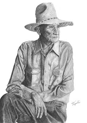 Drawing - Homesteader by Lawrence Tripoli