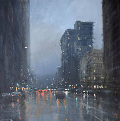 Wall Art - Painting - Hometime Showers by Mike Barr