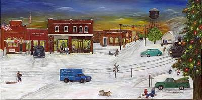 Painting - Hometown Christmas by Linda Clark
