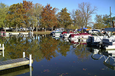 Photograph - Hometown Marina In Autumn by Scott Kingery