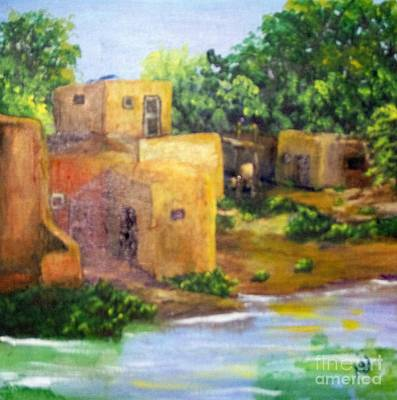 Art Print featuring the painting Hometown by Saundra Johnson