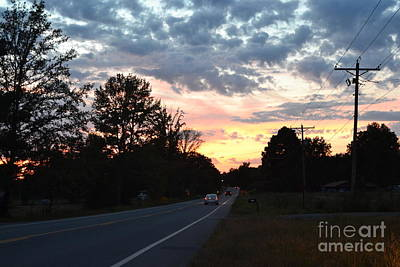 Photograph - Homeward Bound Evening Sky by Karen Francis
