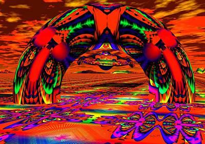 Trippy Digital Art - Homeward Bound by Robert Orinski