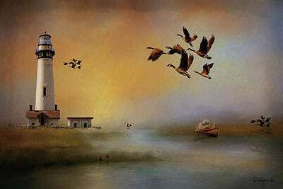 Canadian Geese Painting - Homeward Bound by Theresa Campbell