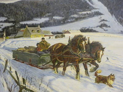 Laurentians Painting - Homeward Son by Theo Huot