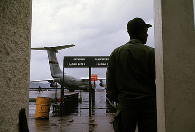 Photograph - Danang Air Base Departure Gate by Robert Holden