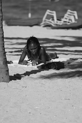 Homework At The Hollywood Beach Original by Rob Hans