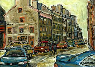 Montreal Memories. Painting - Small Format Paintings For Sale Vieux Montreal Montreal Petits Formats A Vendre  by Carole Spandau