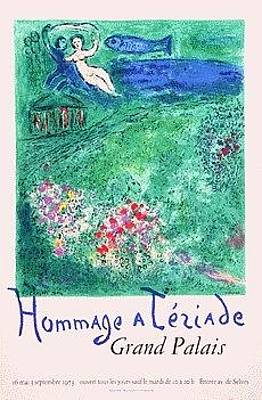 Mourlot Painting - Hommage A Teriade Grand Palais by Marc Chagall