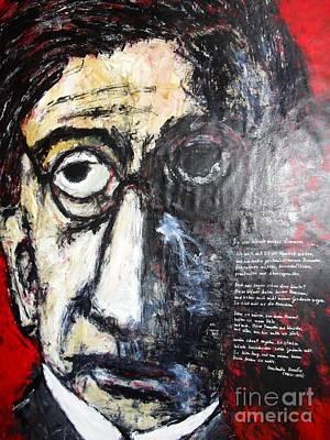 Figurativ Drawing - Hommage An Konstantin Kavafis Die Vier Waende Meines Zimmers 210 X 150 Cm Acryl Auf Tuch by Despina Papadopoulou