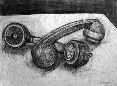 Homoerotic Phones Print by Richard Mclean
