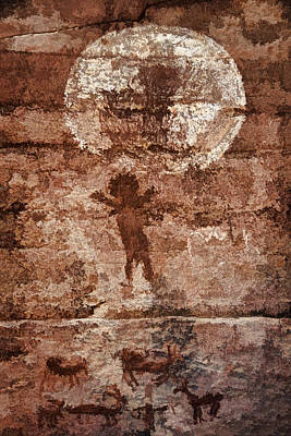 Photograph - Honanki Pictographs5 Pnt by Theo O'Connor