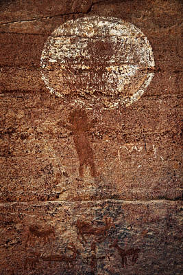 Photograph - Honanki Pictographs5 Txt by Theo O'Connor