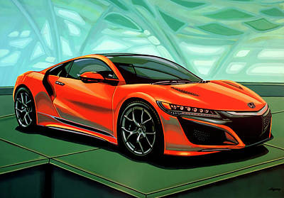 Painting - Honda Acura Nsx 2016 Painting by Paul Meijering