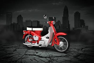 Honda C50 Cub 1967 City Art Print