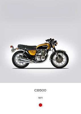 Honda Cb500 1971 Art Print by Mark Rogan