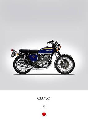 Honda Photograph - Honda Cb750 1971 by Mark Rogan