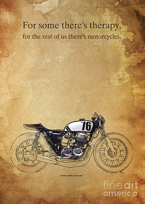 Motorcycles Digital Art - Honda Cb750 Cafe Racer Quote by Pablo Franchi