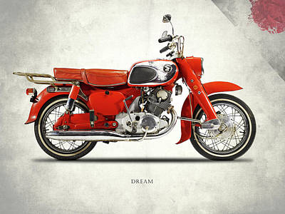 Honda Dream 1964 Print by Mark Rogan