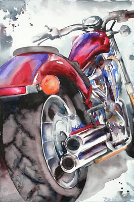 Wall Art - Painting - Honda Fury by Jamie Hansen