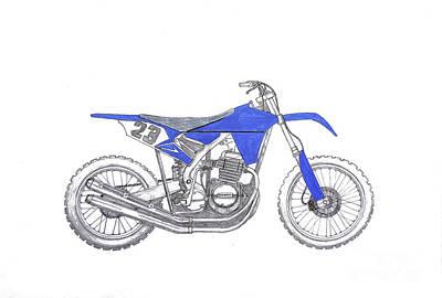 Long Street Drawing - Honda Mud Plugger by Stephen Brooks