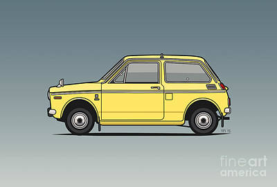 Honda N360 Yellow Kei Car Original