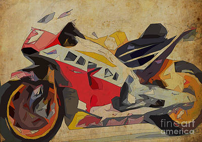 Christmas Gift Drawing - Honda Rc213v 2015 by Pablo Franchi