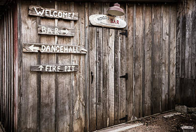Photograph - Hondo's Bar At Luckenbach Texas by Andy Crawford