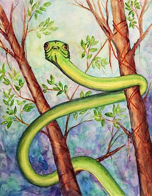 Painting - Honduran Tree Snake by Patricia Beebe