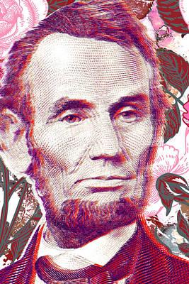 Politicians Mixed Media - Honest Abe Art by Ricki Mountain