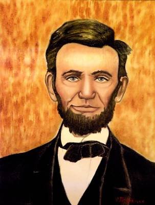 Honest Abe Art Print by Victoria Rhodehouse