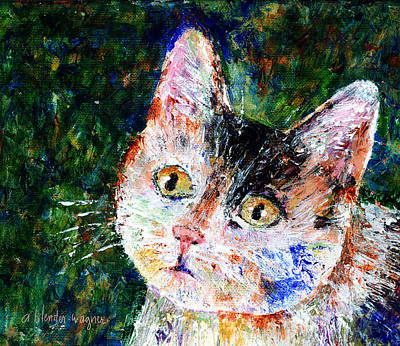 Domestic Cat Painting - Honest...it Wasn't Me by Arline Wagner