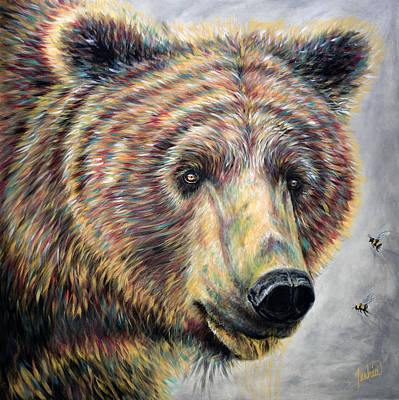 Wyoming Painting - Honey Bear by Teshia Art