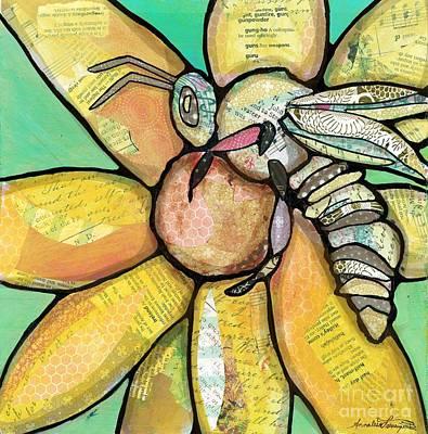 Mixed Media - Honey Bee by Annalisa Loevenguth