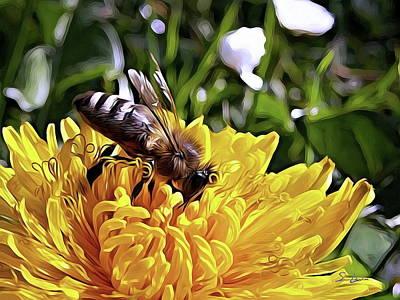 Photograph - Honey Bee Art Craft by S Art