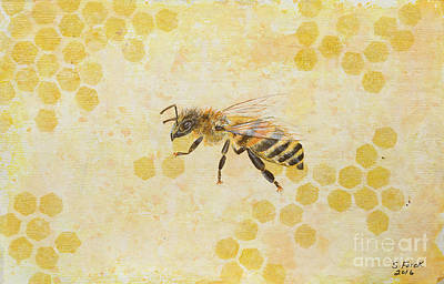 Painting - Honey Bee by Stefanie Forck