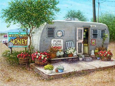 Painting - Honey For Sale by Janet Kruskamp