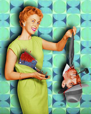 Honey I'm Home 1950s Severed Head Print by Tony Rubino