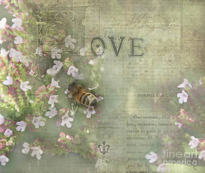 Digital Art - Honey Love by Victoria Harrington