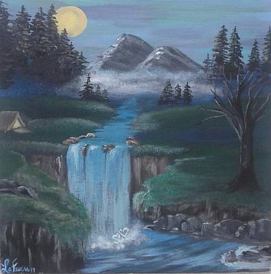 Bob Ross Painting - Honey Moon by Lori Lafevers